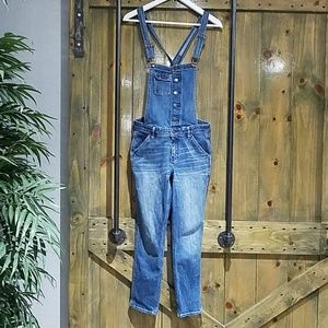 🌻 HOLLISTER LOW RISE DENIM JEAN OVERALLS SIZE XS